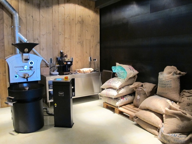 The roastery at the back